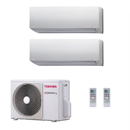 Toshiba Air Conditioning RAS-2M14S3AV-E Multi Room Inverter Heat pump Daiseikai 2 x 2.5Kw/9000Btu A++ 240V~50Hz